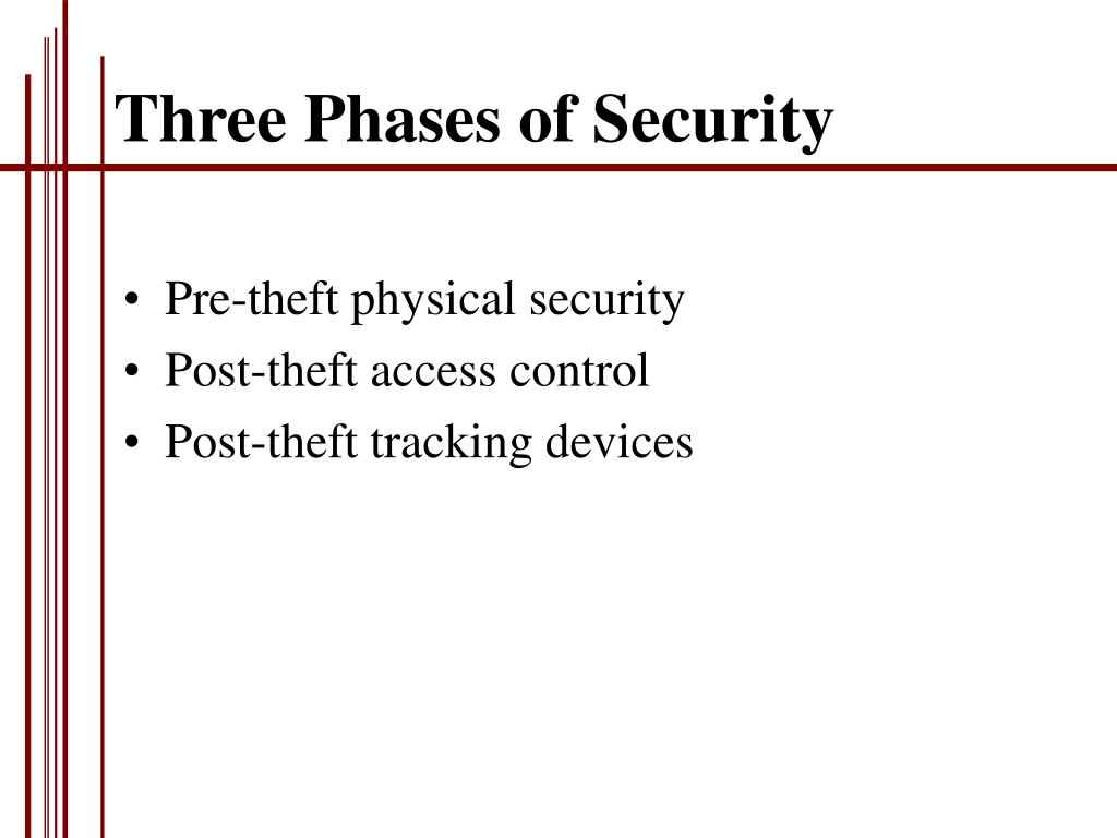 Three Phases of Security