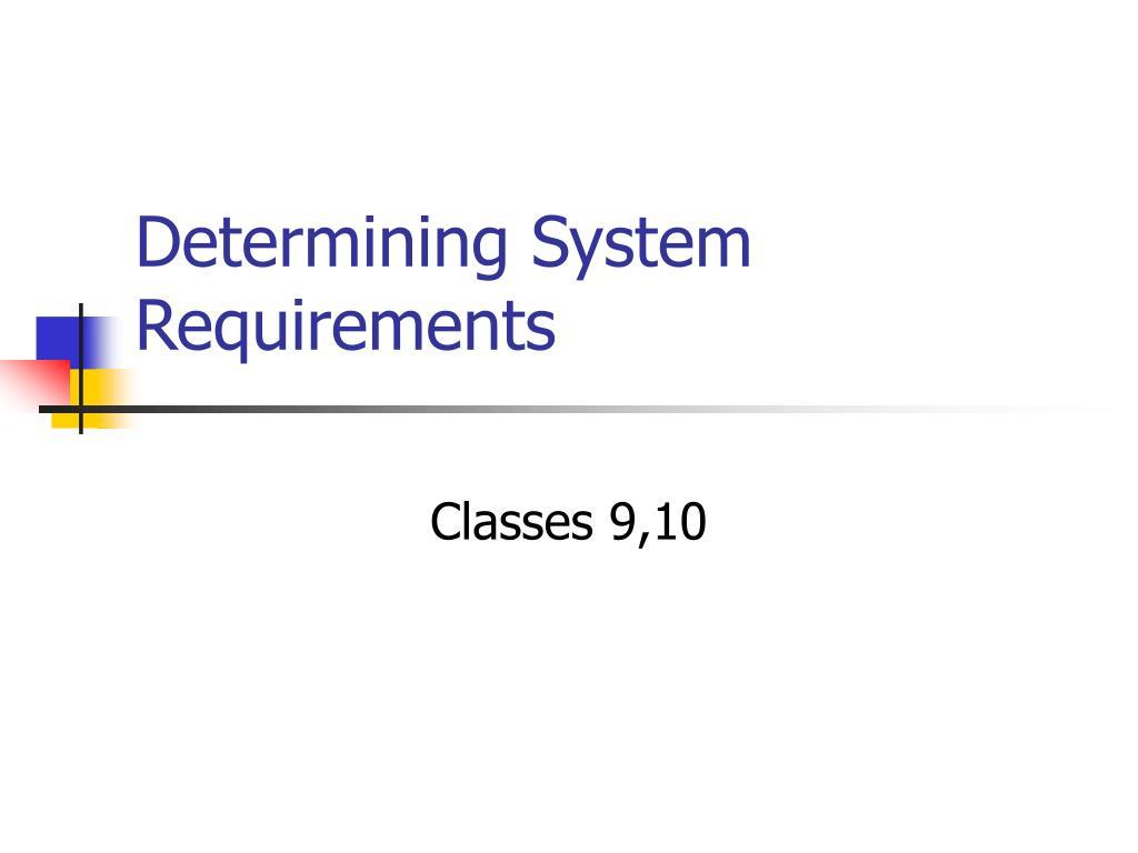 Determining System
