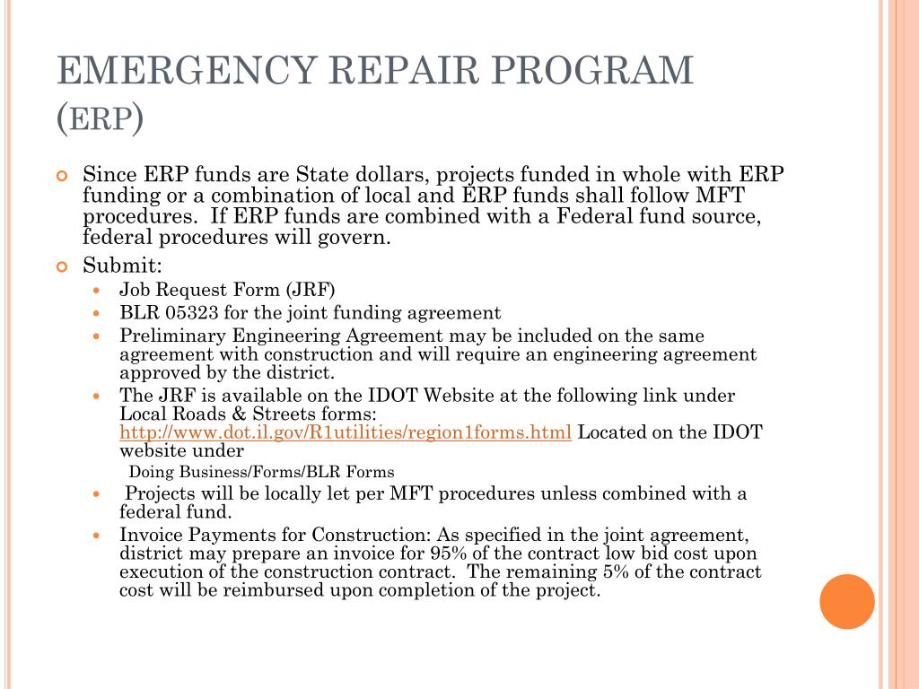 EMERGENCY REPAIR PROGRAM (