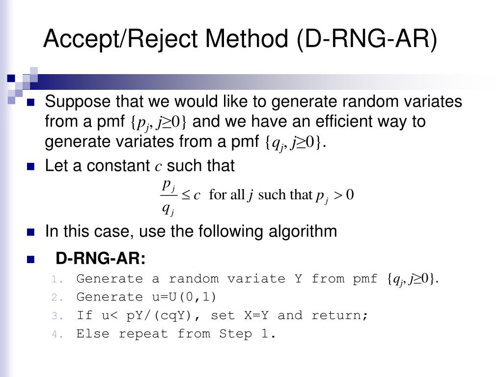 Accept/Reject Method (D-RNG-AR)