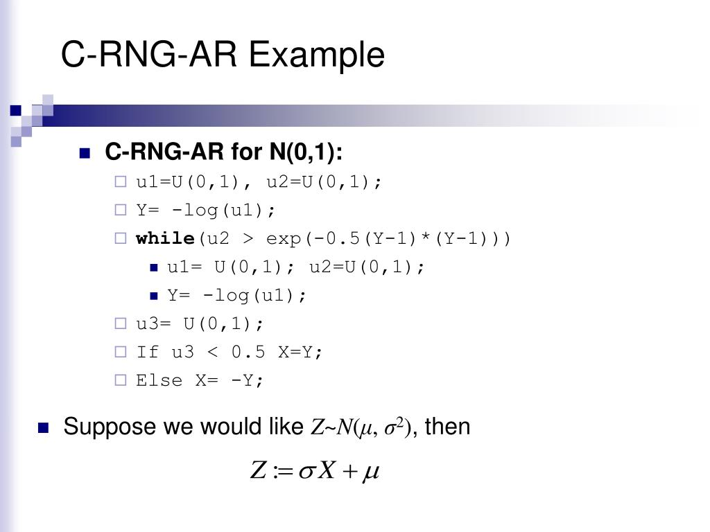 C-RNG-AR Example