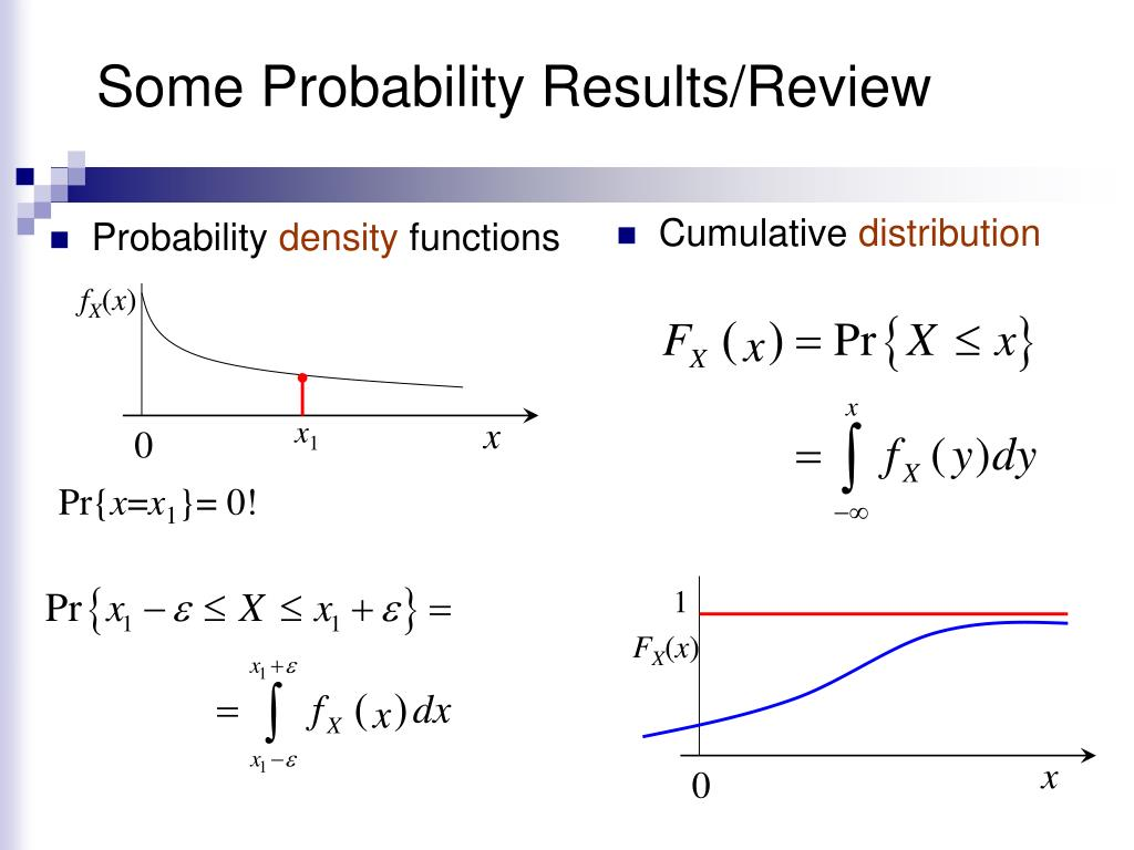 Some Probability Results/Review