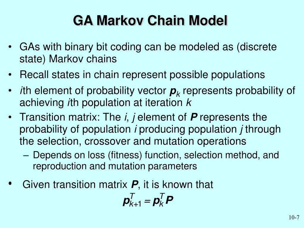 GA Markov Chain Model