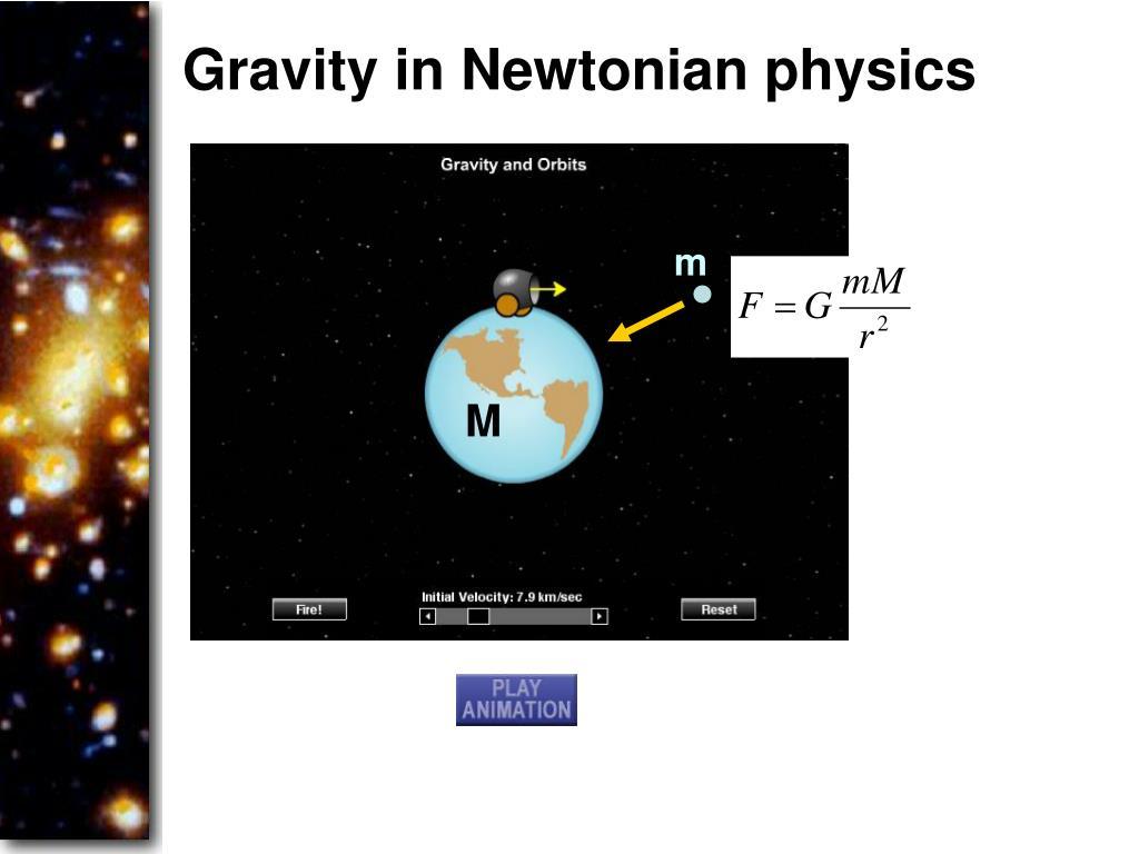 Gravity in Newtonian physics