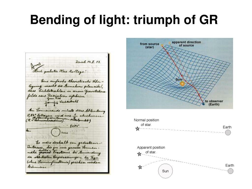 Bending of light: triumph of GR