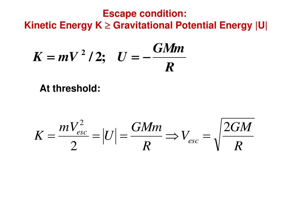 Escape condition: