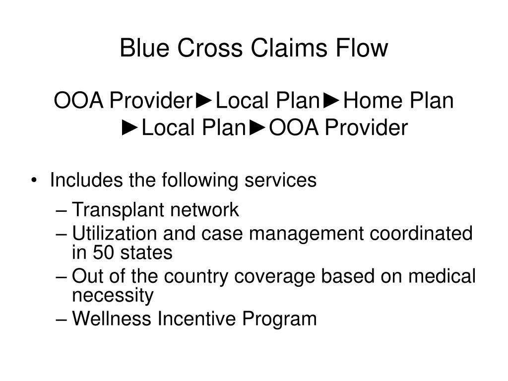 Blue Cross Claims Flow