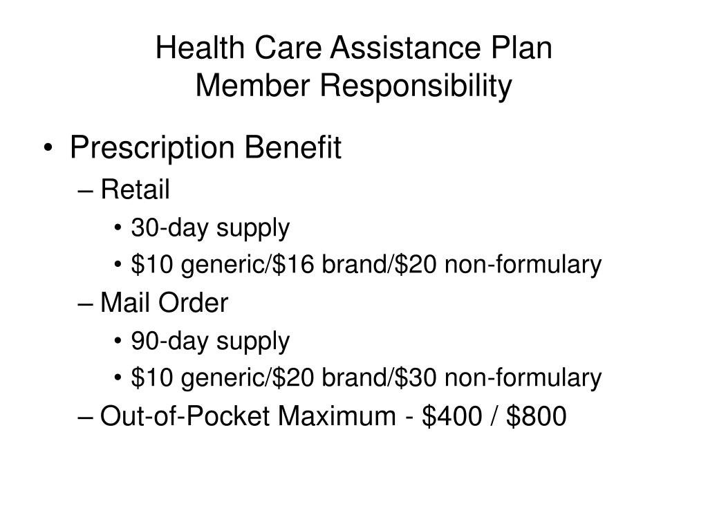 Health Care Assistance Plan