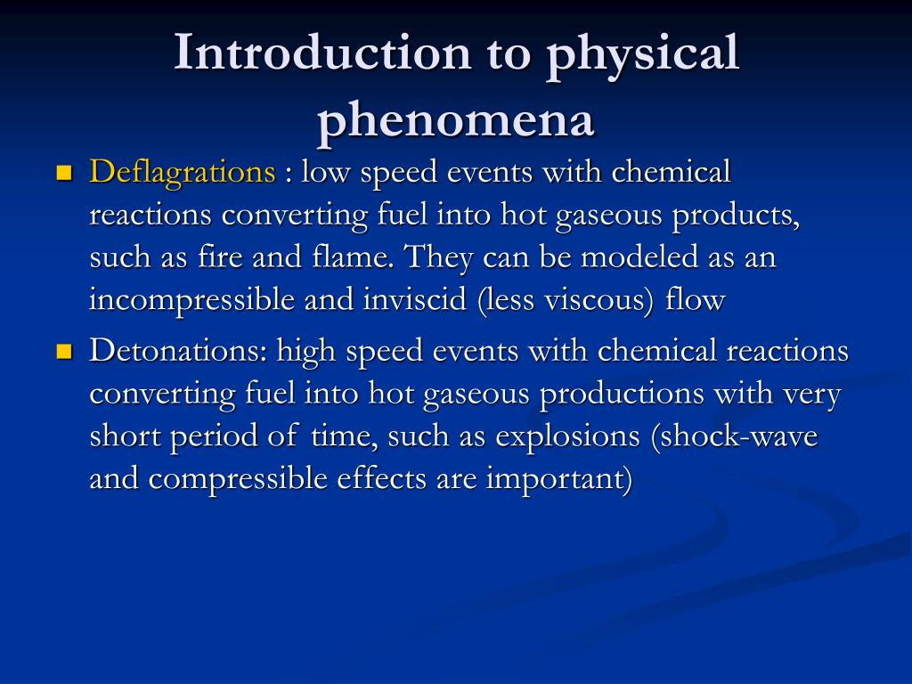 Introduction to physical phenomena
