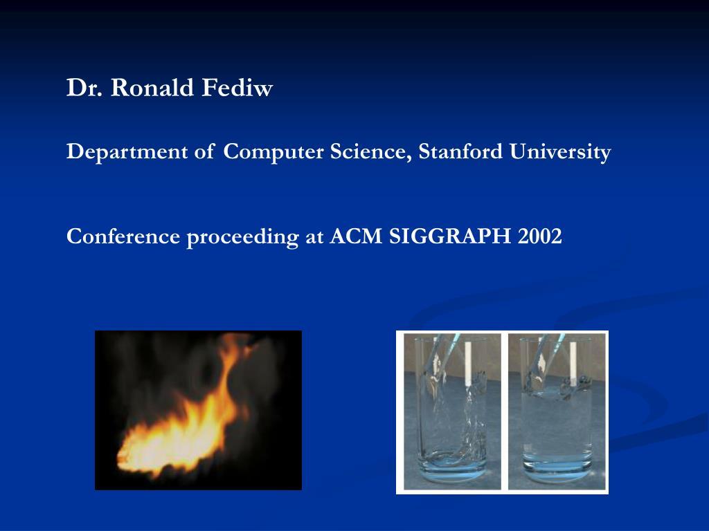 Dr. Ronald Fediw