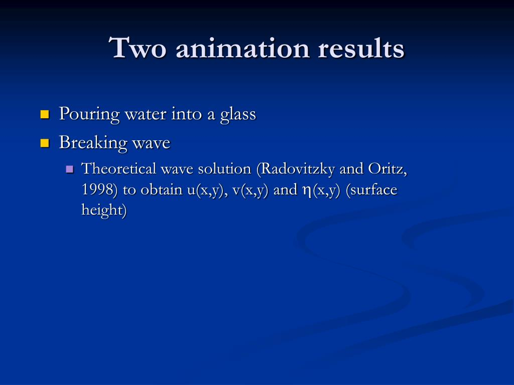 Two animation results
