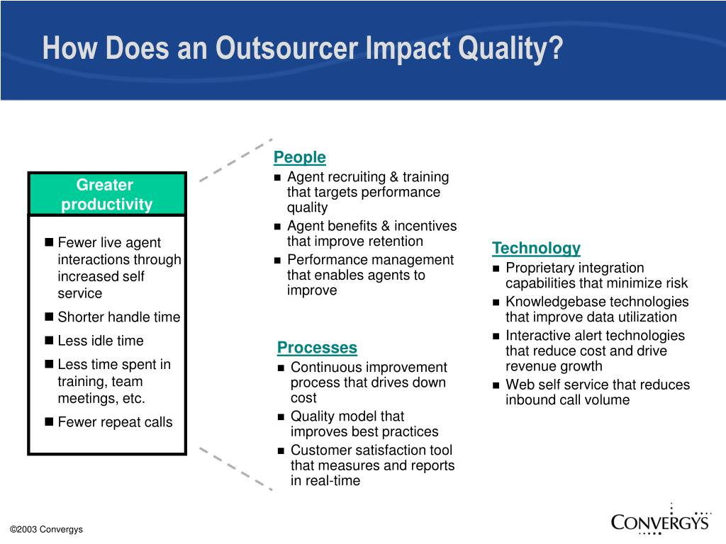 How Does an Outsourcer Impact Quality?