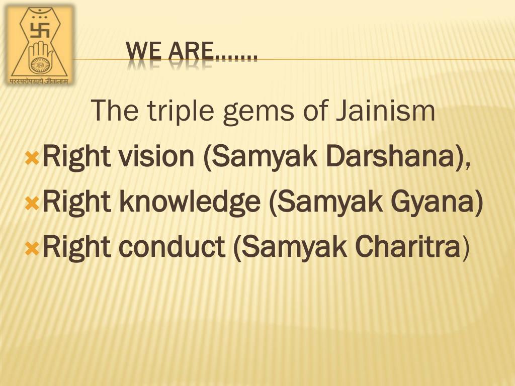 Thetriple gems of Jainism