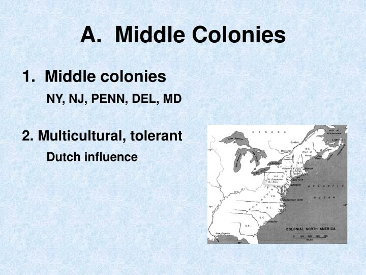 A middle colonies