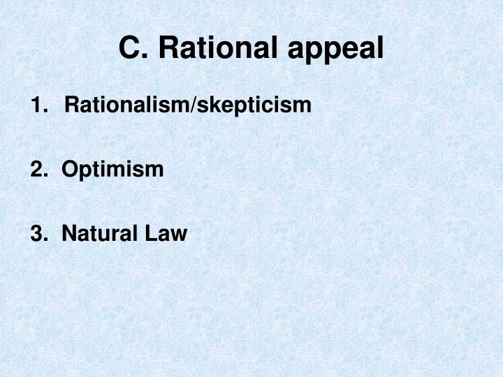 C. Rational appeal
