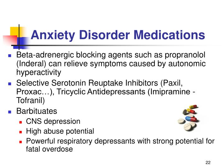 Anxiety Disorder Medications