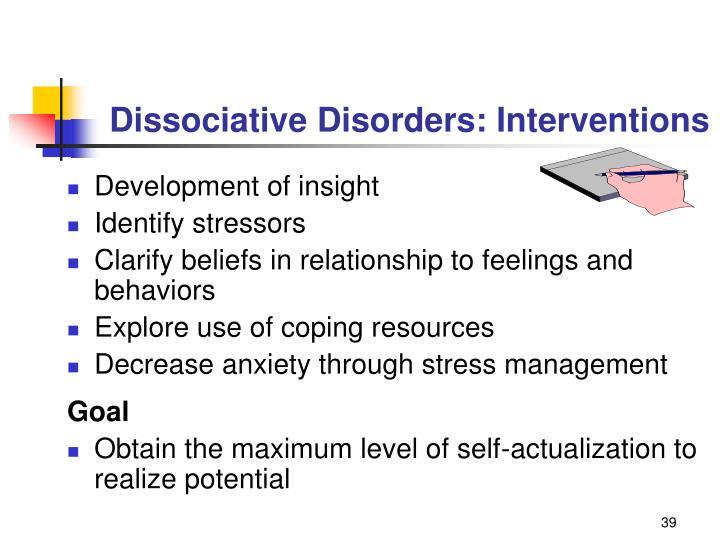 Dissociative Disorders: Interventions