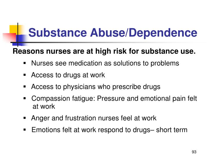 Substance Abuse/Dependence