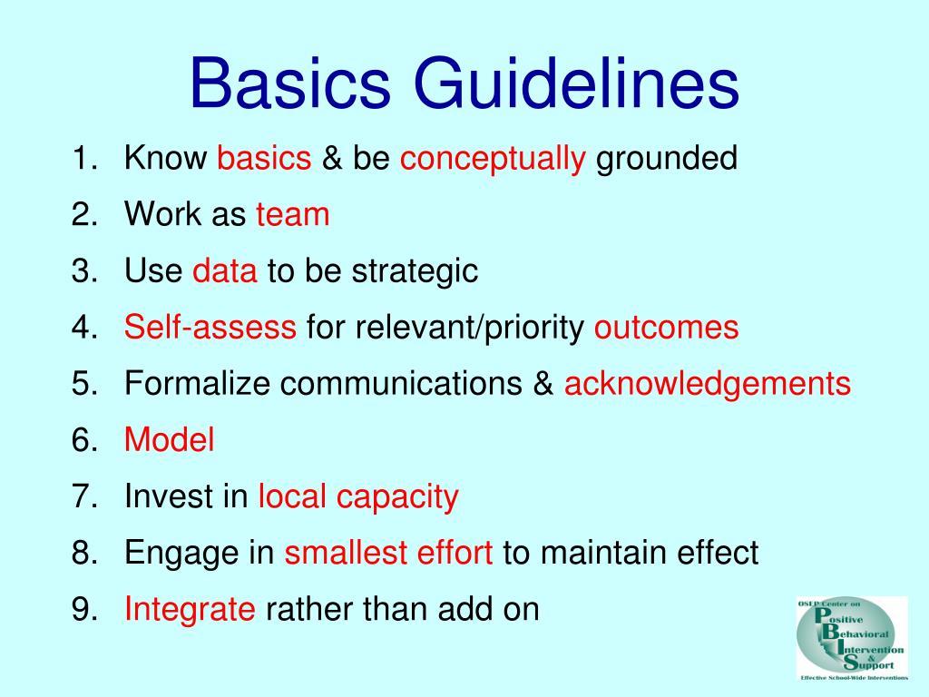 Basics Guidelines