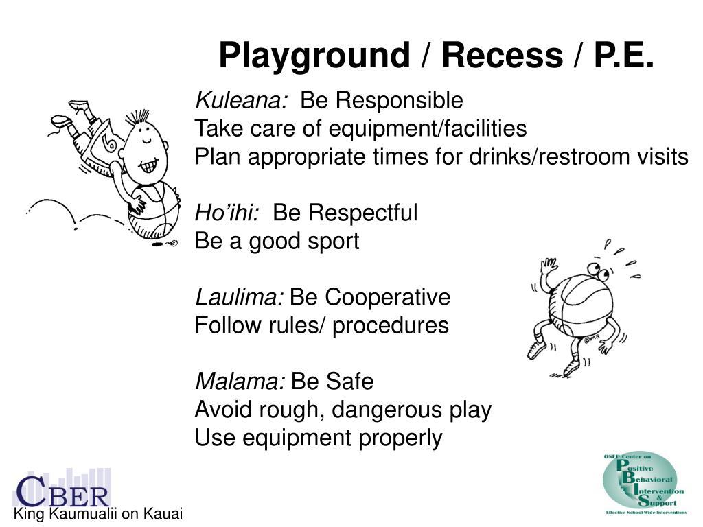 Playground / Recess / P.E.