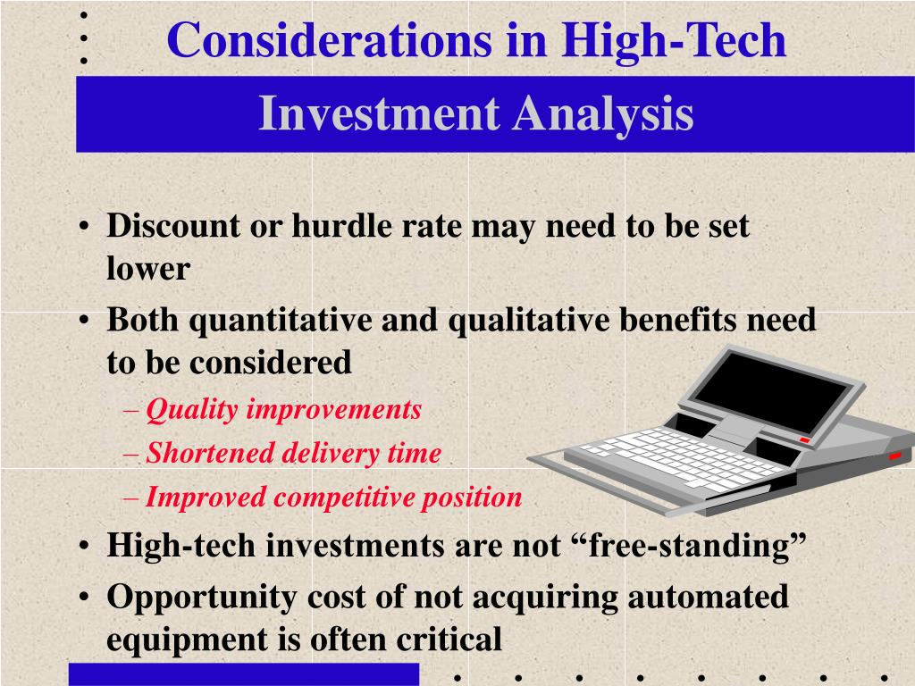Considerations in High-Tech
