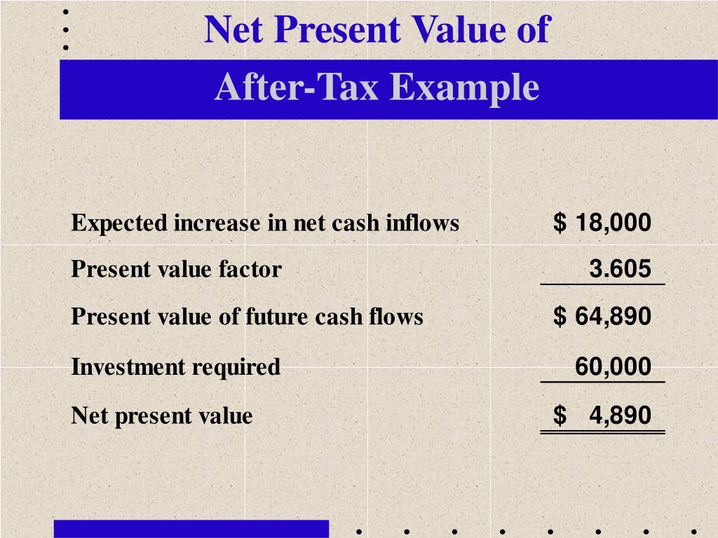 Net Present Value of