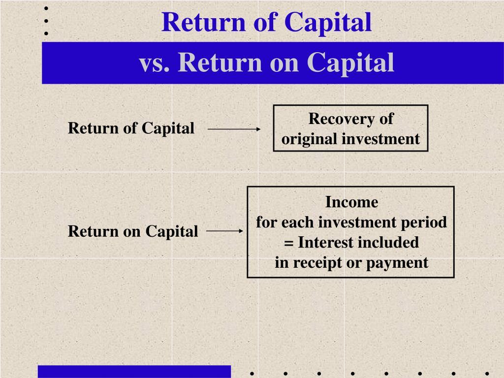 Return of Capital