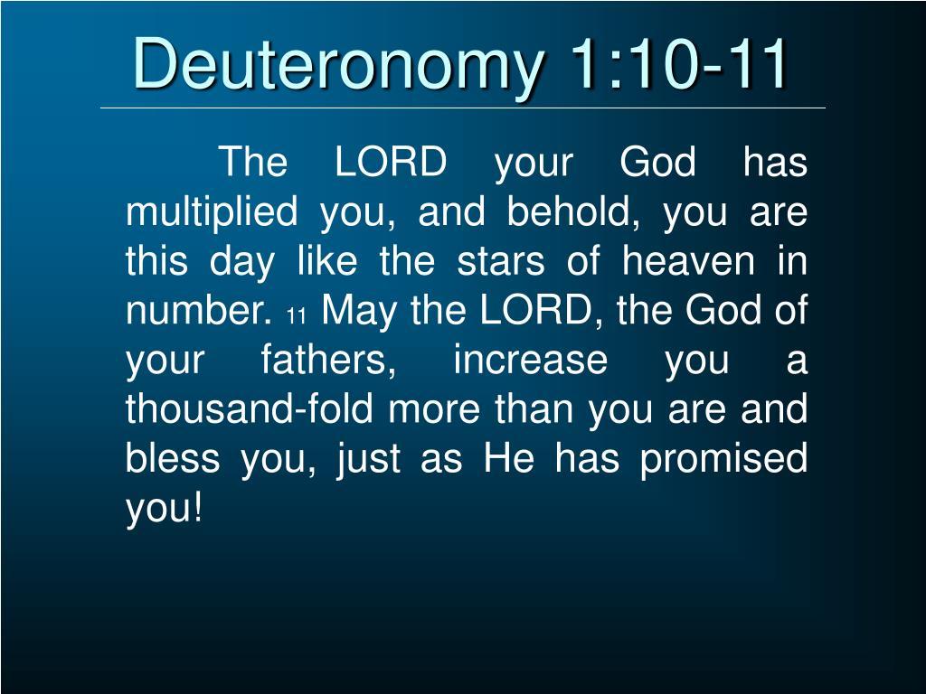 Deuteronomy 1:10-11