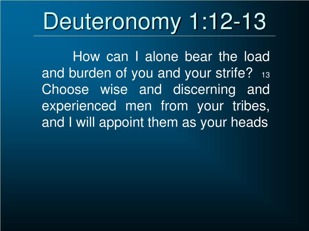 Deuteronomy 1:12-13