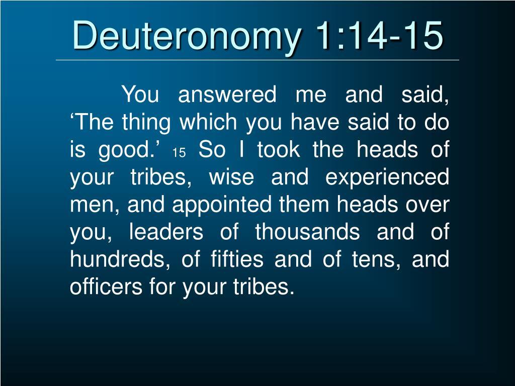 Deuteronomy 1:14-15