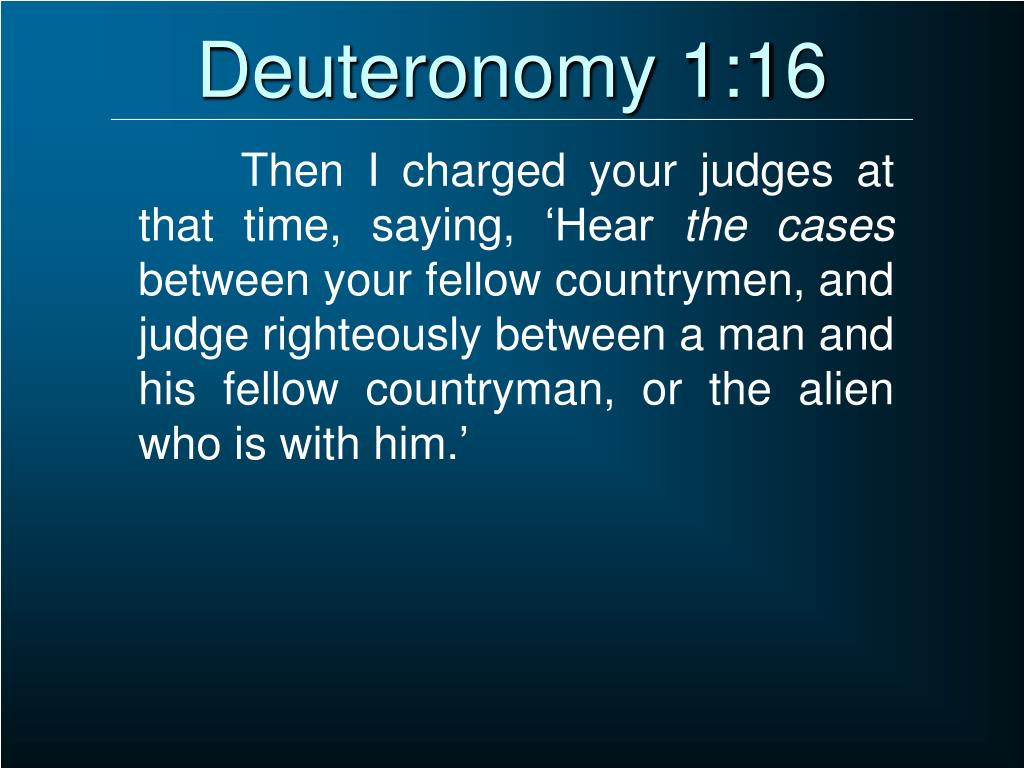 Deuteronomy 1:16