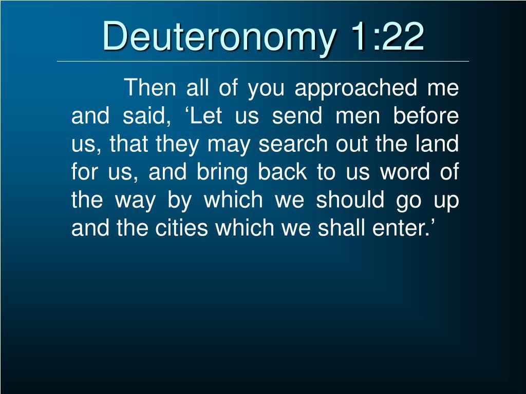 Deuteronomy 1:22