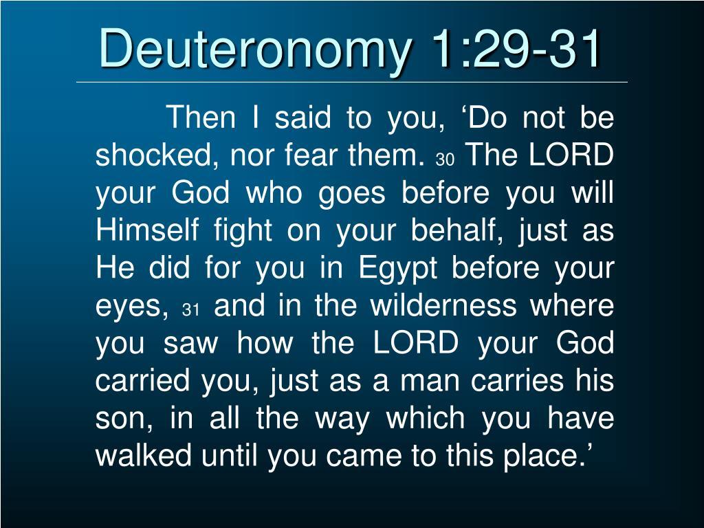 Deuteronomy 1:29-31