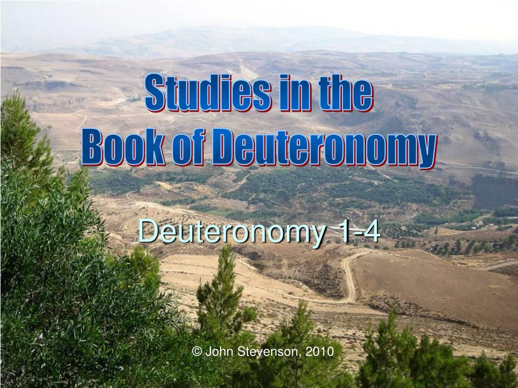 Deuteronomy 1-4