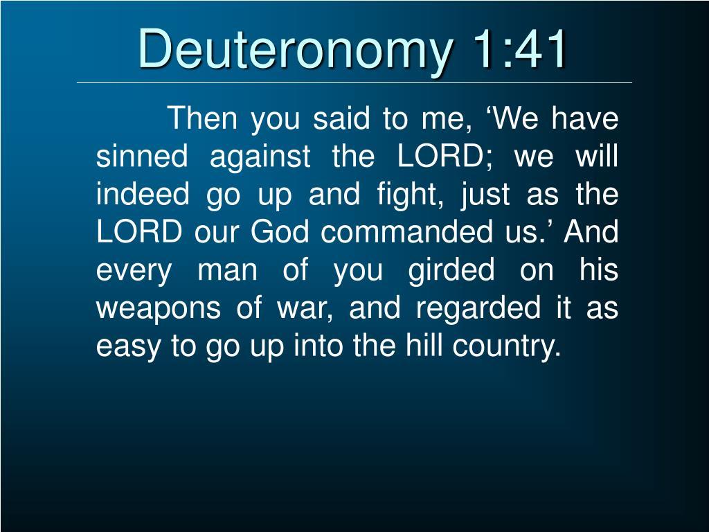 Deuteronomy 1:41