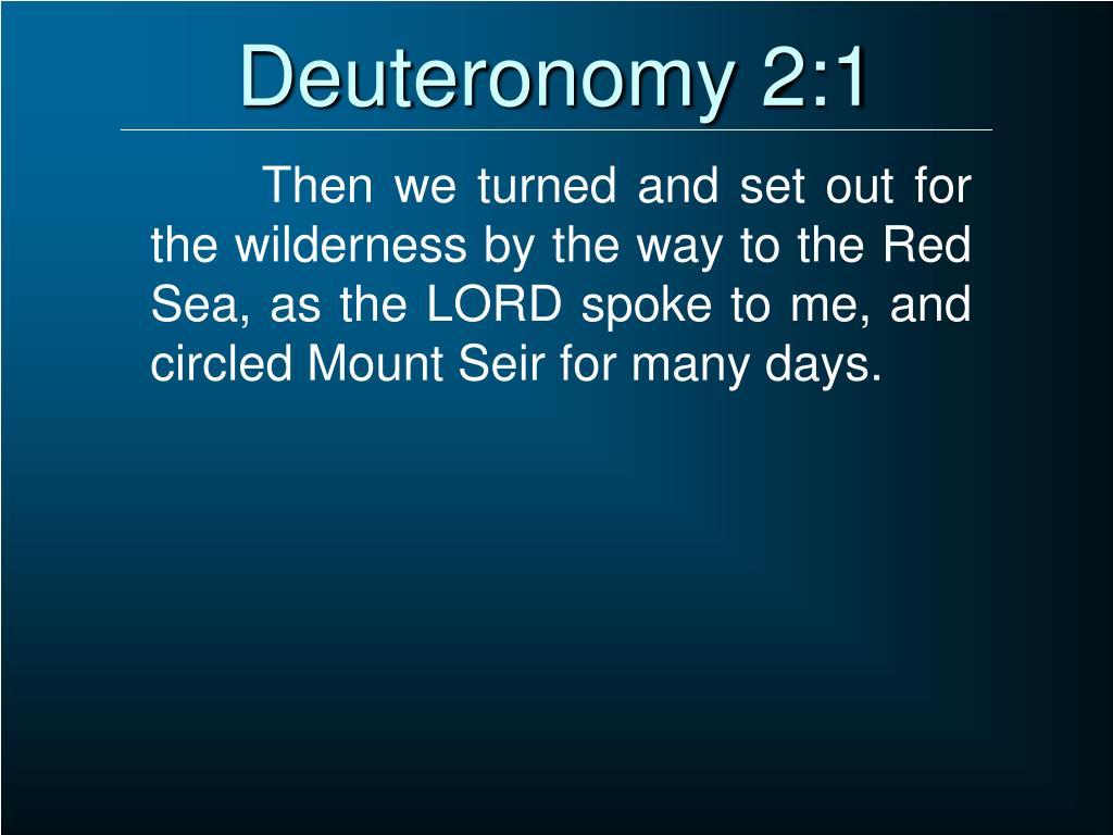 Deuteronomy 2:1