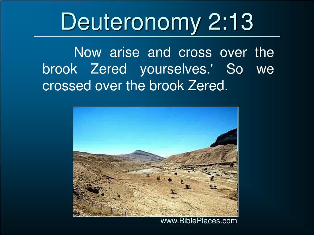 Deuteronomy 2:13