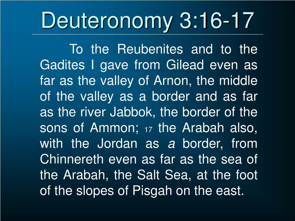 Deuteronomy 3:16-17