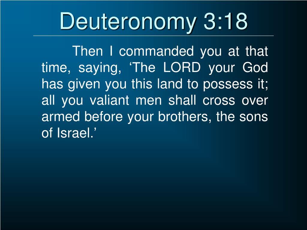 Deuteronomy 3:18