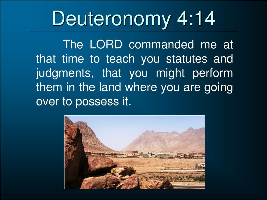 Deuteronomy 4:14