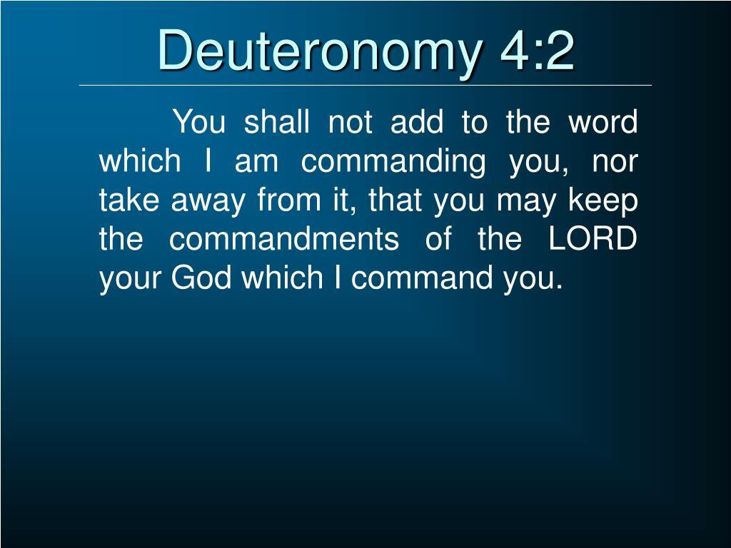 Deuteronomy 4:2