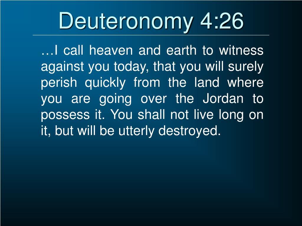 Deuteronomy 4:26