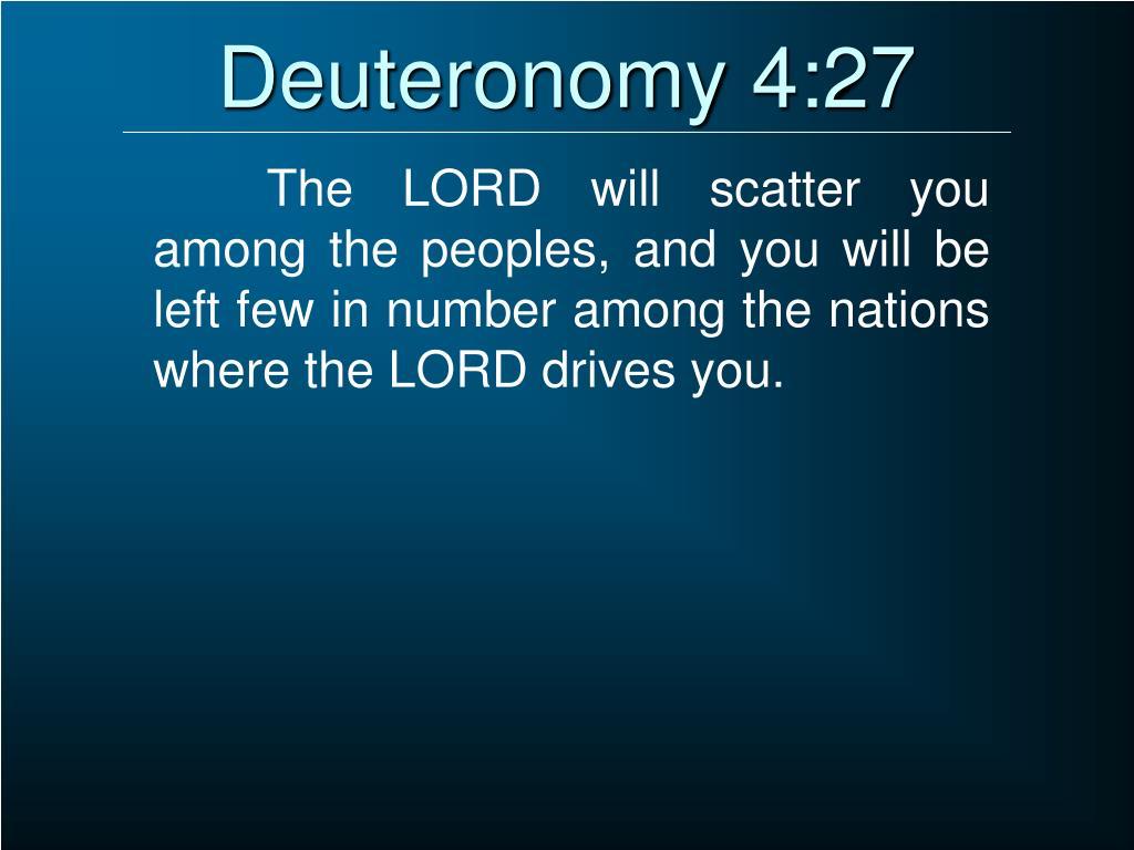 Deuteronomy 4:27