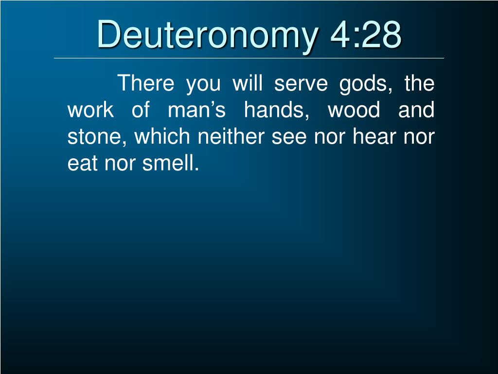 Deuteronomy 4:28