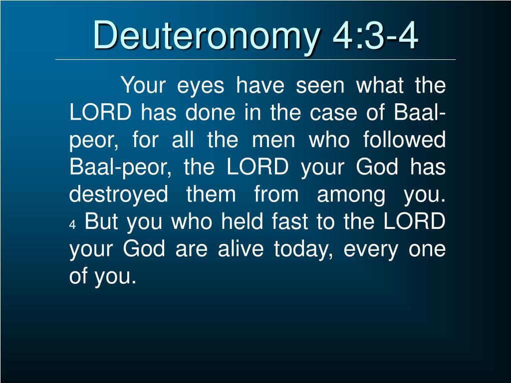 Deuteronomy 4:3-4