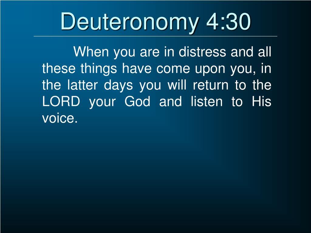 Deuteronomy 4:30