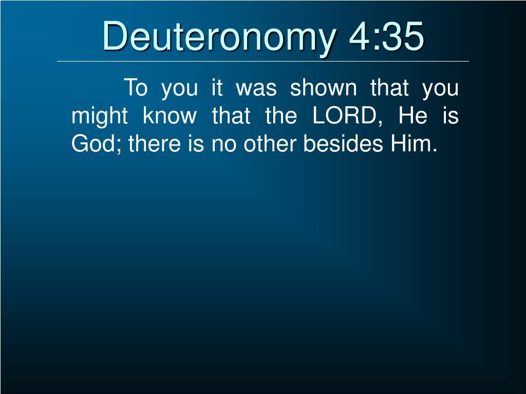 Deuteronomy 4:35