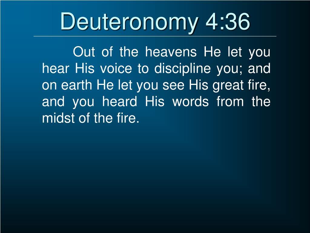 Deuteronomy 4:36