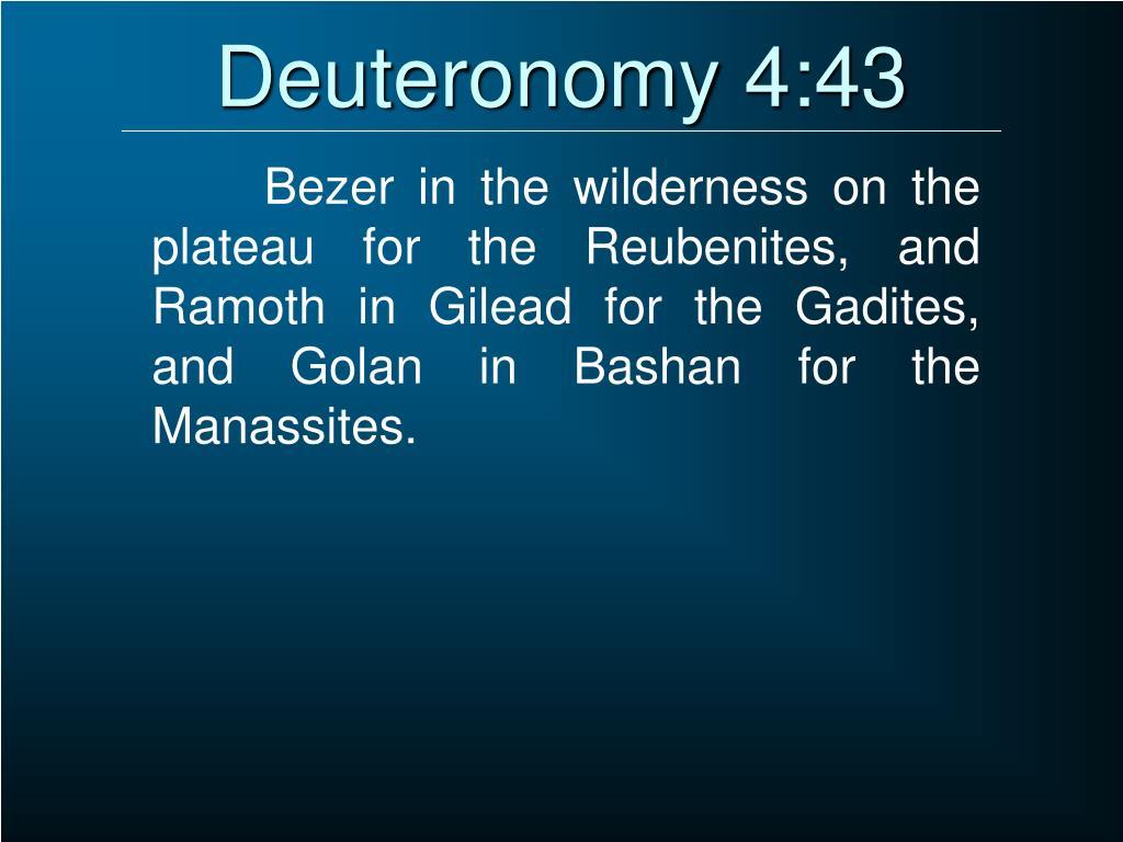 Deuteronomy 4:43
