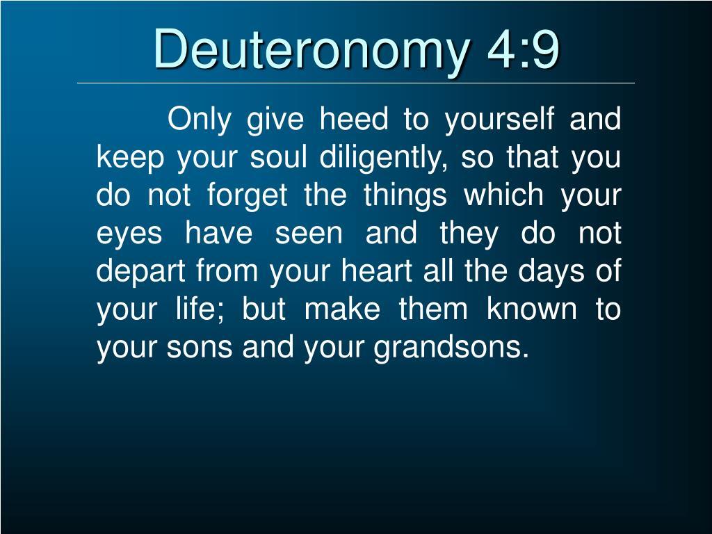 Deuteronomy 4:9